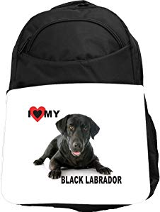 Rikki Knight UKBK I Love My Black Labrador Dog Tech BackPack - Padded for Laptops & Tablets Ideal for School or College Bag BackPack
