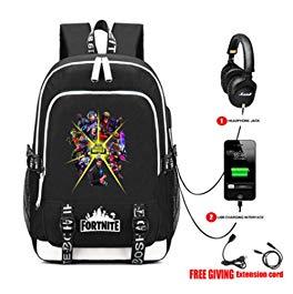 Fashion For-Tnite School Backpack College Shoulder Bag for Boys and Girls